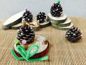 松ぼっくりツリー+台